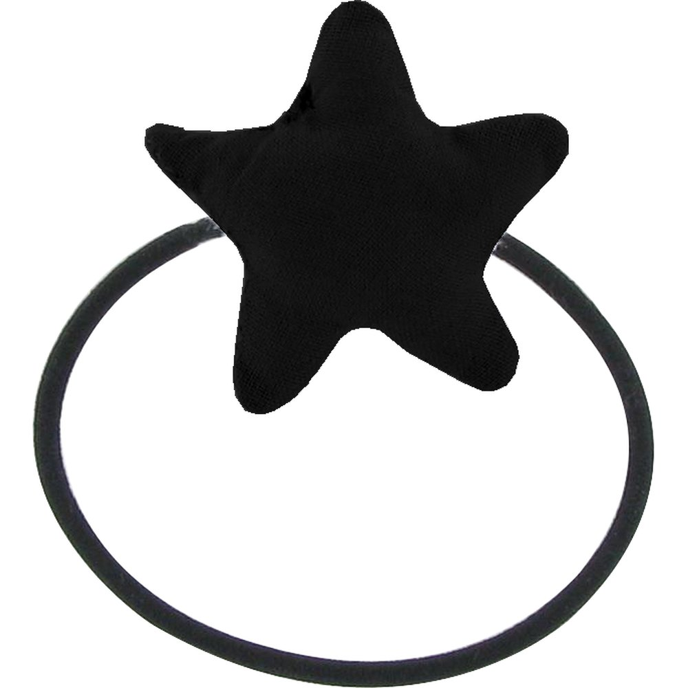 Pony-tail elastic hair star black