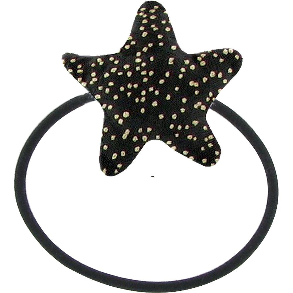Pony-tail elastic hair star noir pailleté