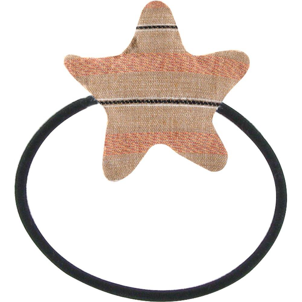 Elastique cheveux étoile rayure bronze cuivrée
