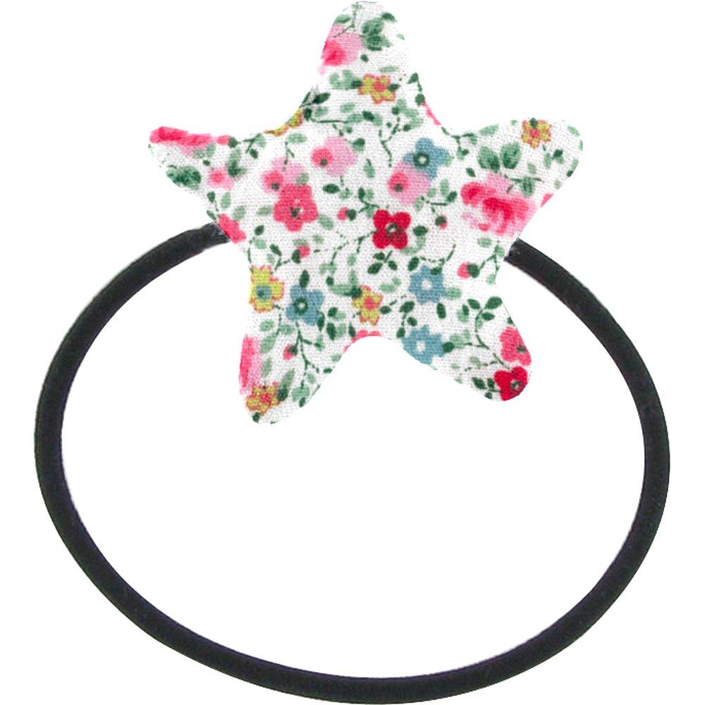Pony-tail elastic hair star rosary