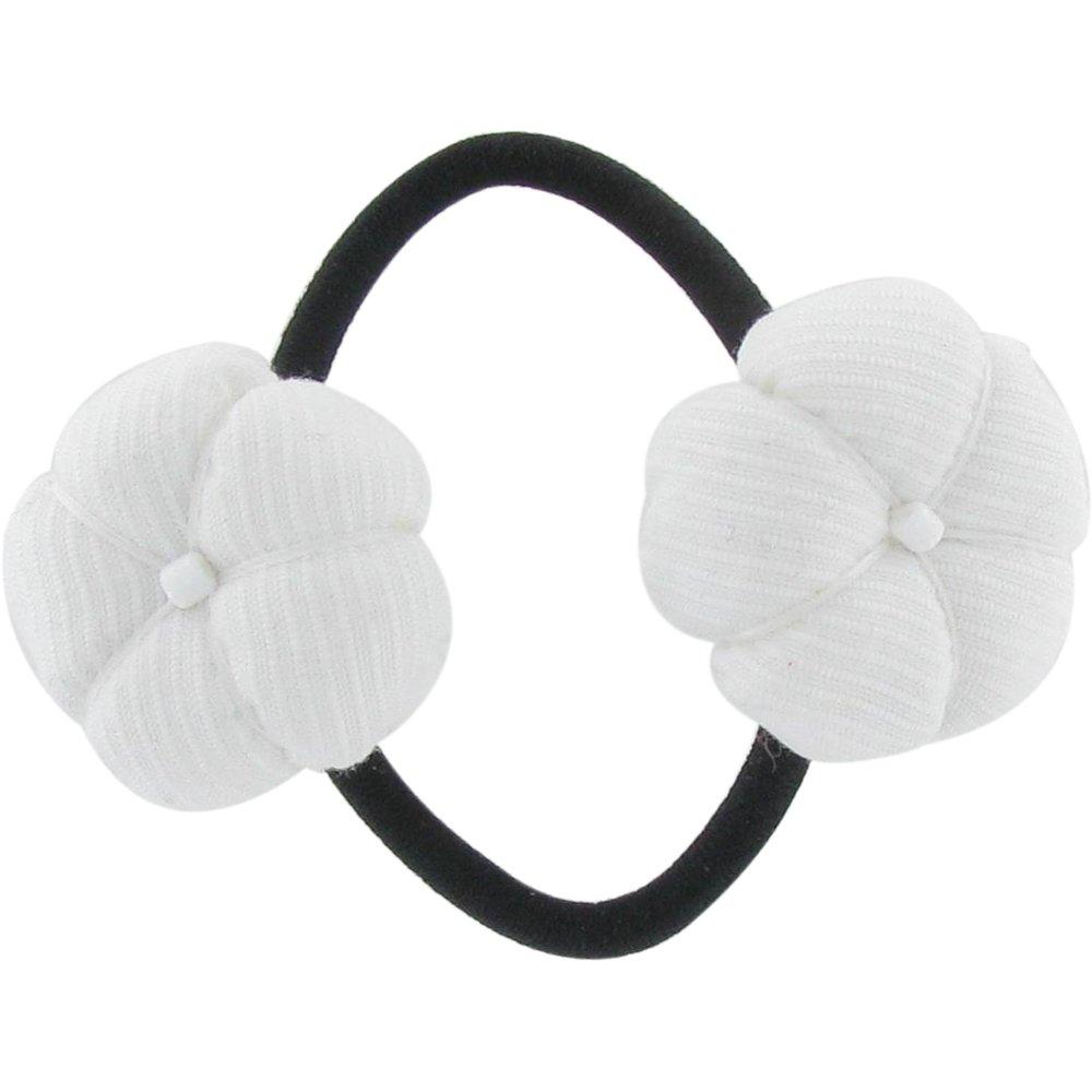 Japan flower pony-tail holder white