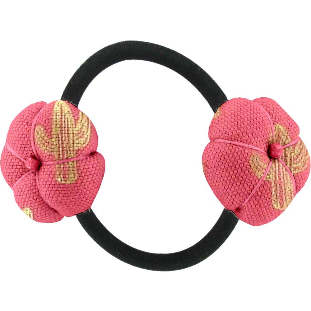 Elastique fleur du japon cactus or