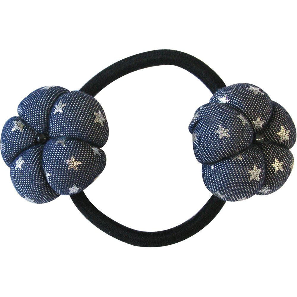 Elastique fleur du japon etoile argent jean