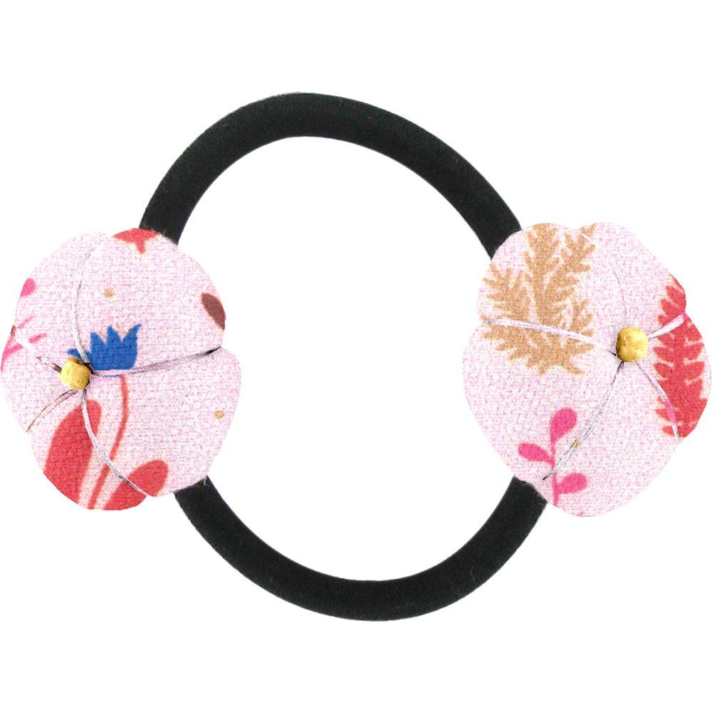 Japan flower pony-tail holder herbier rose