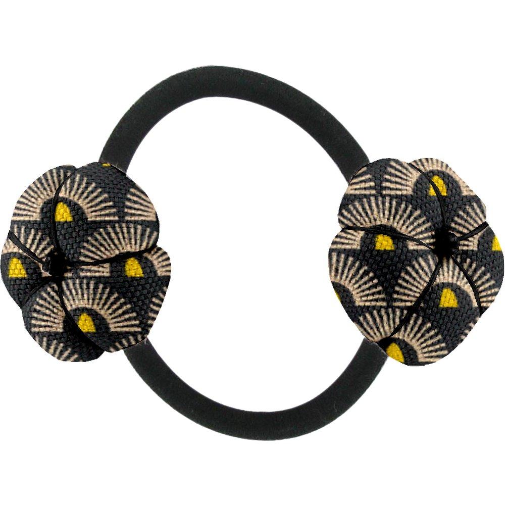 Goma de pelo con flores sol de los incas