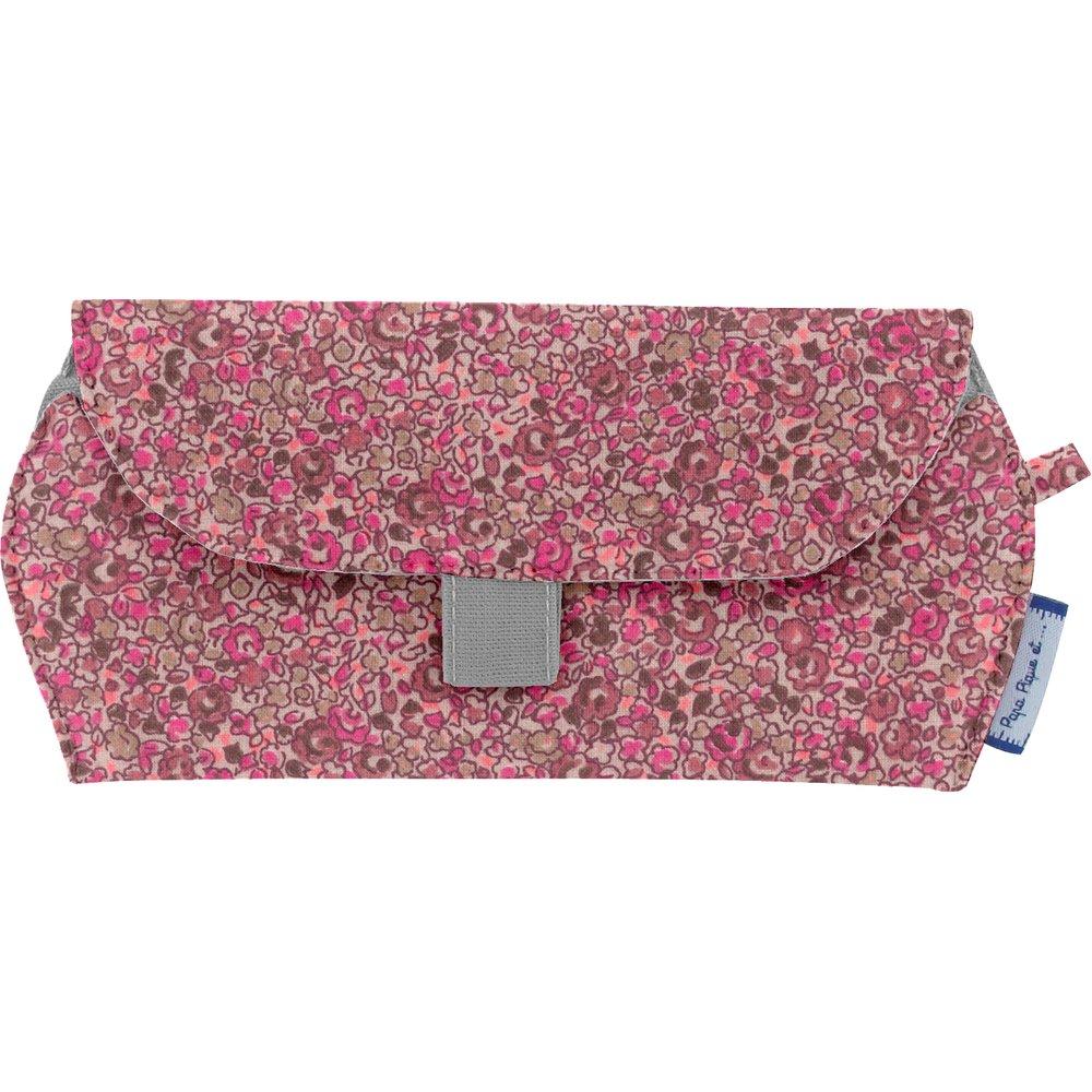 Etui à lunettes lichen prune rose