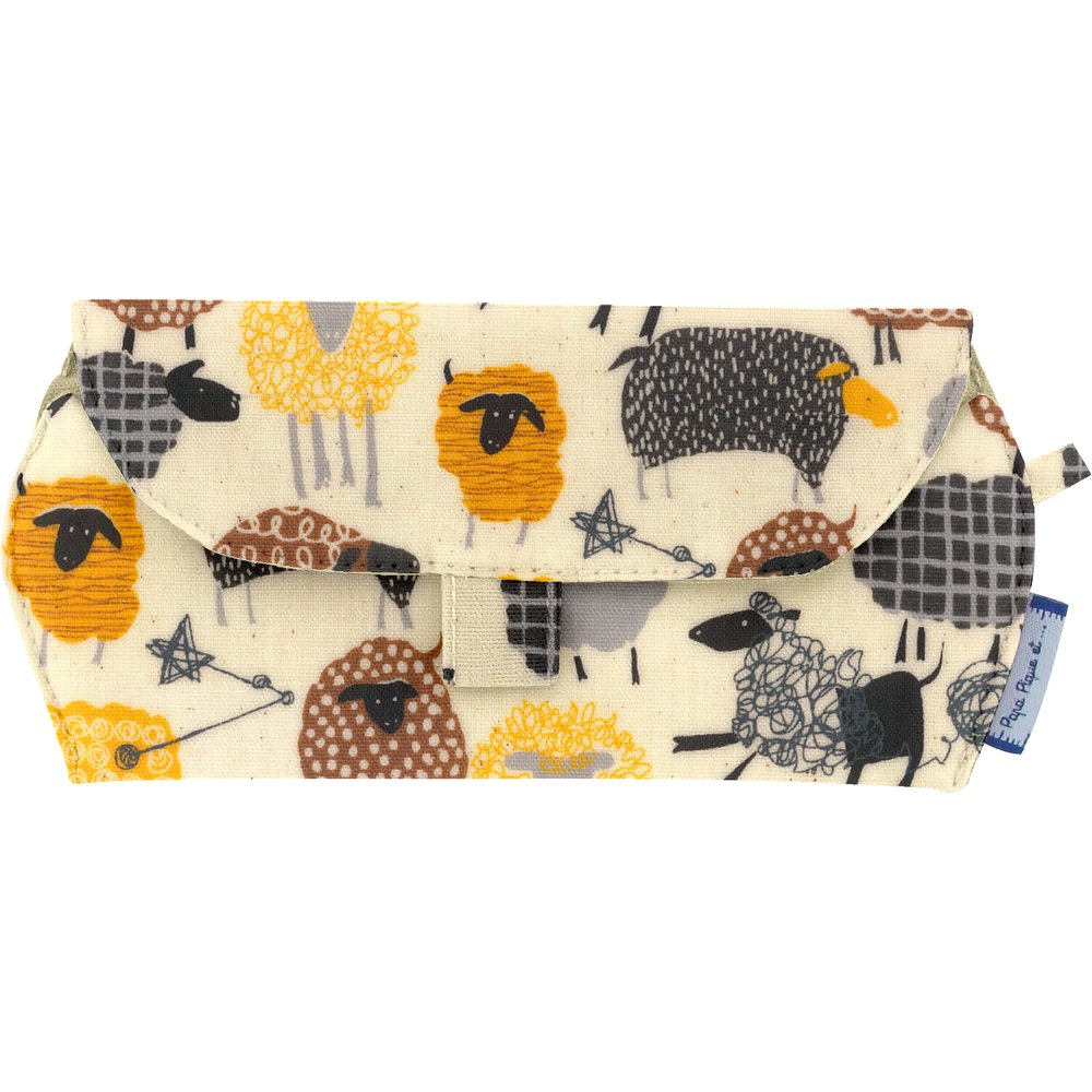 Glasses case yellow sheep