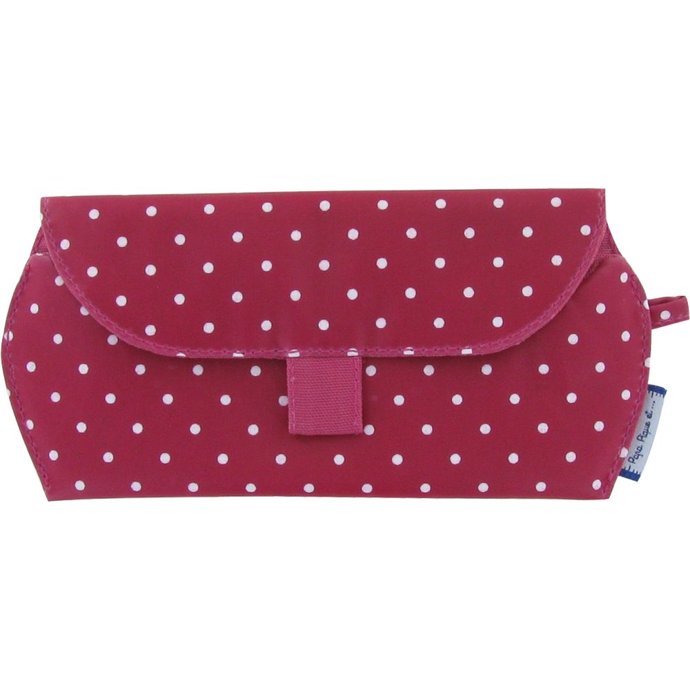 Glasses case fuschia spots