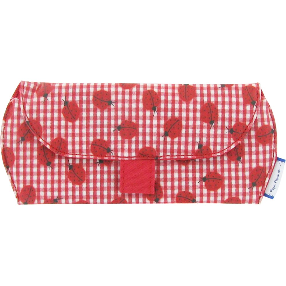 Glasses case ladybird gingham