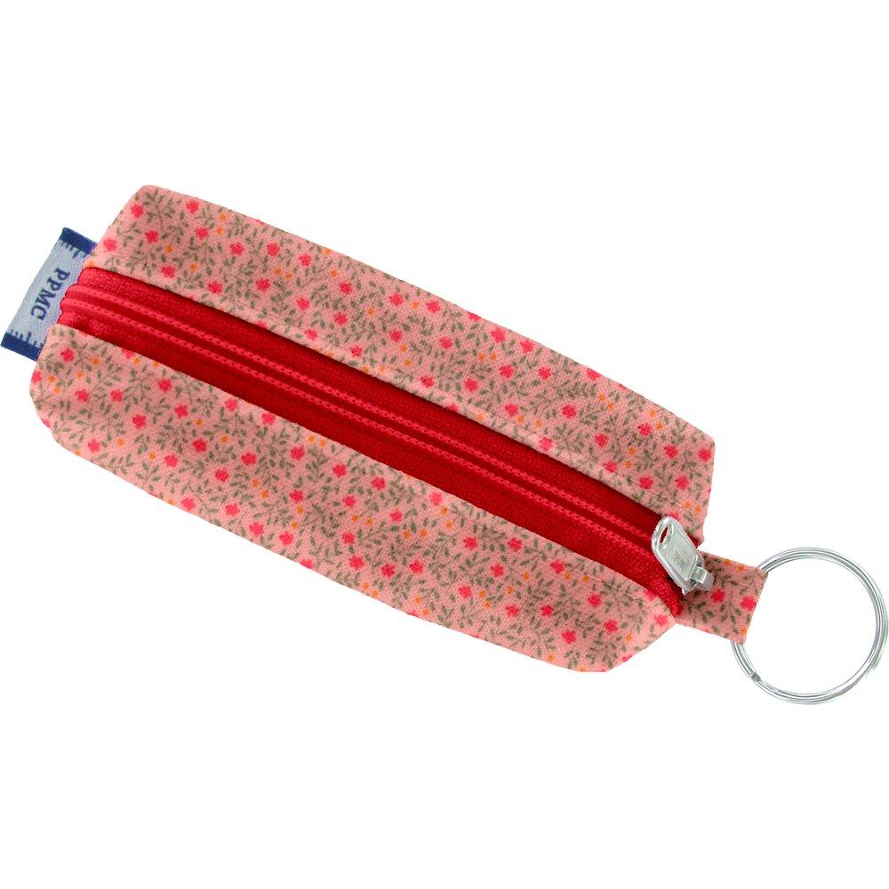 Etui porte-clé mini fleur rose