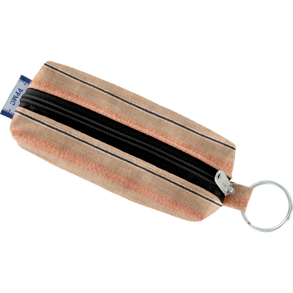 Etui porte-clé rayure bronze cuivrée
