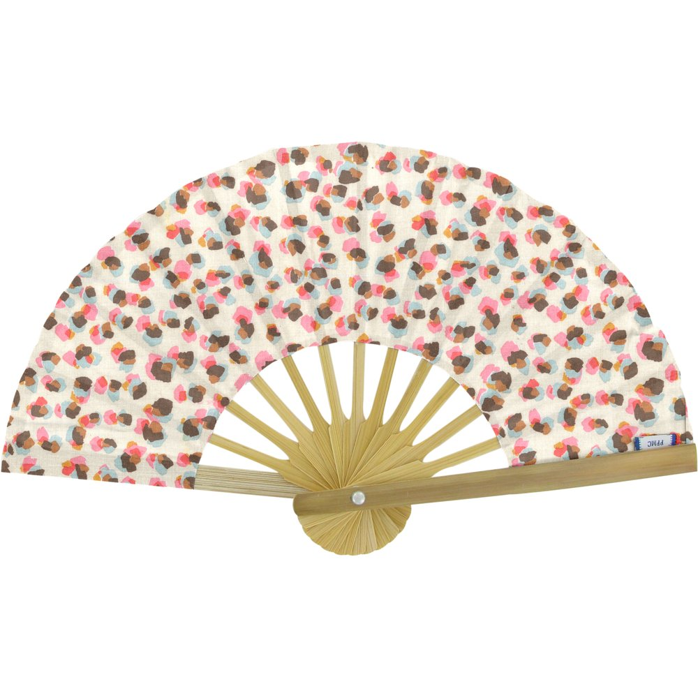 Hand-held fan confetti aqua
