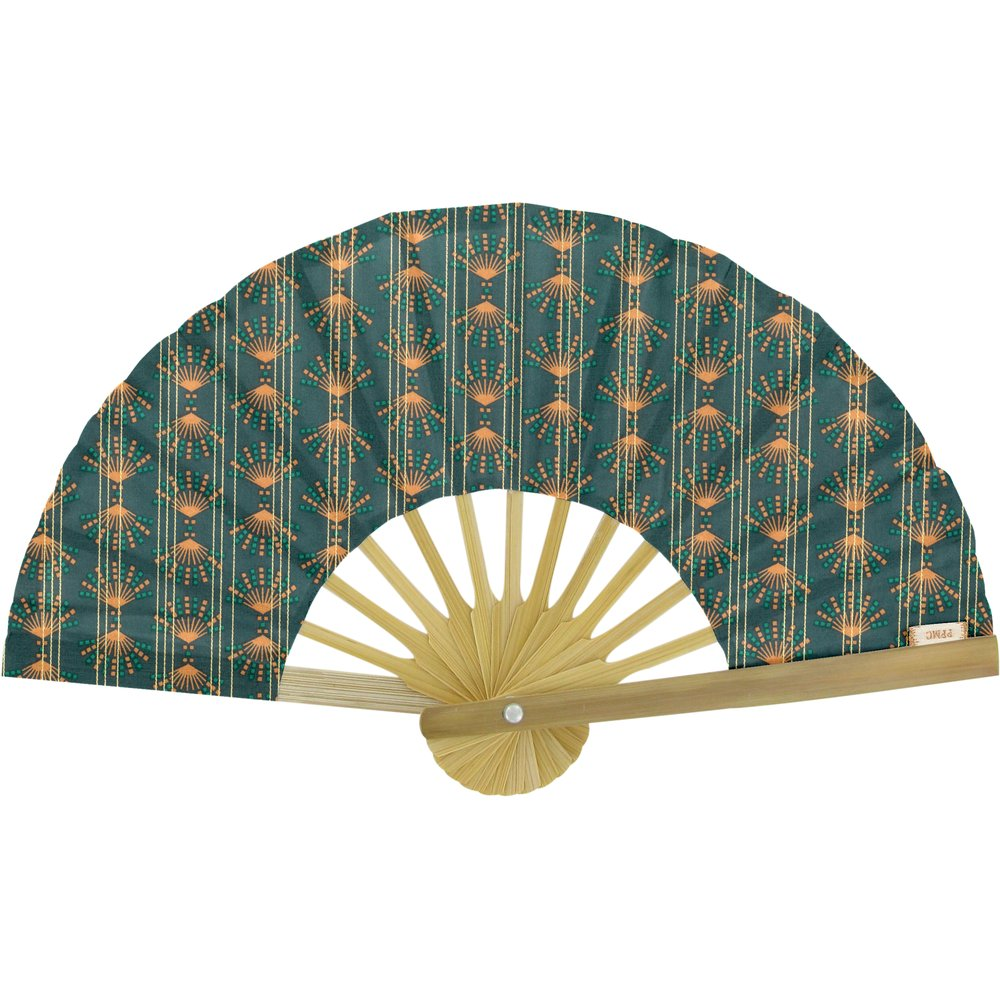 Hand-held fan eventail or vert