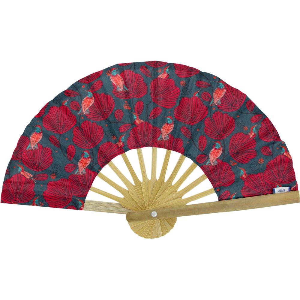 Hand-held fan oiseau de noël