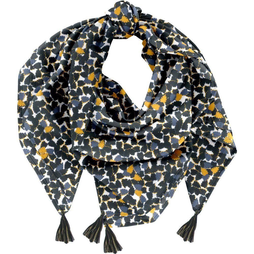 Pom pom scarf  melting plum'