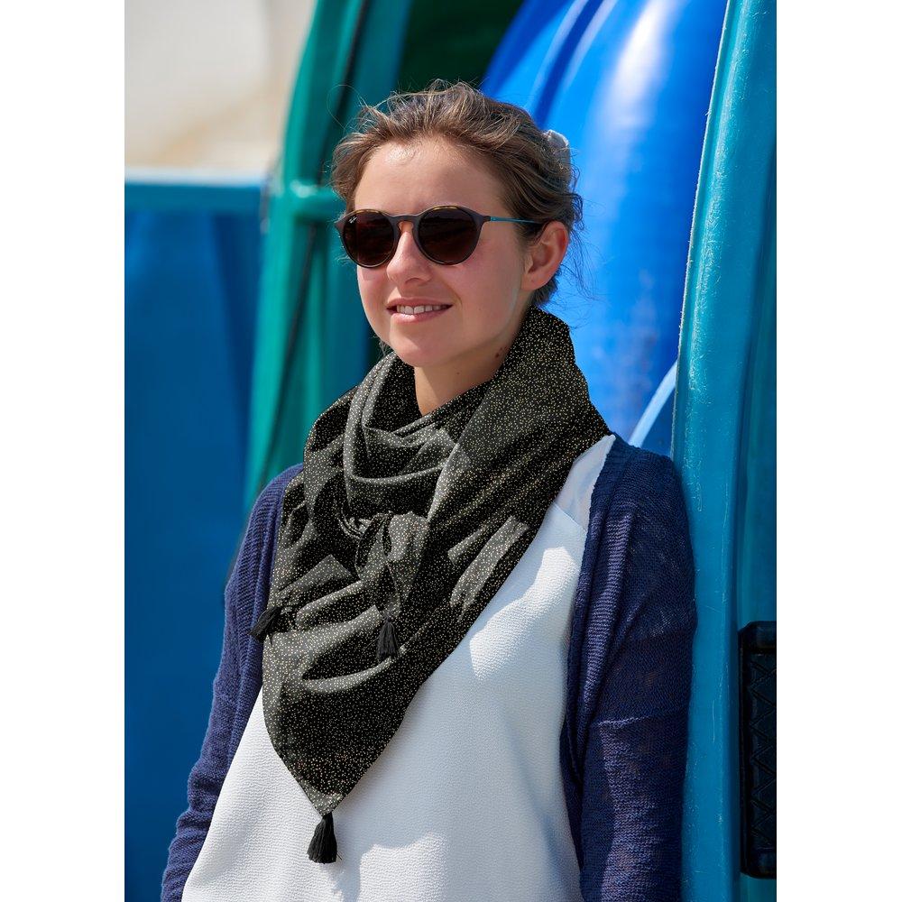 nouveau style de prix compétitif qualité de la marque Foulard pompon noir pailleté