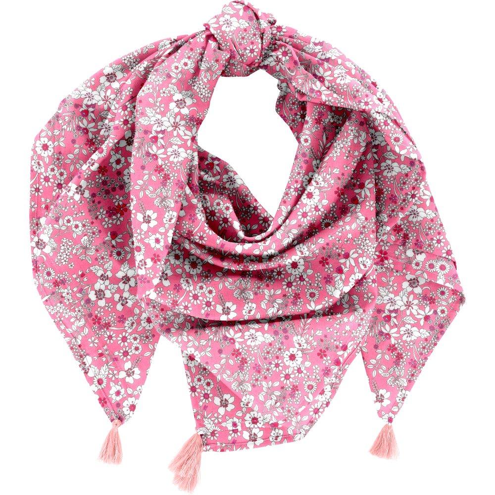 Pom pom scarf pink violette