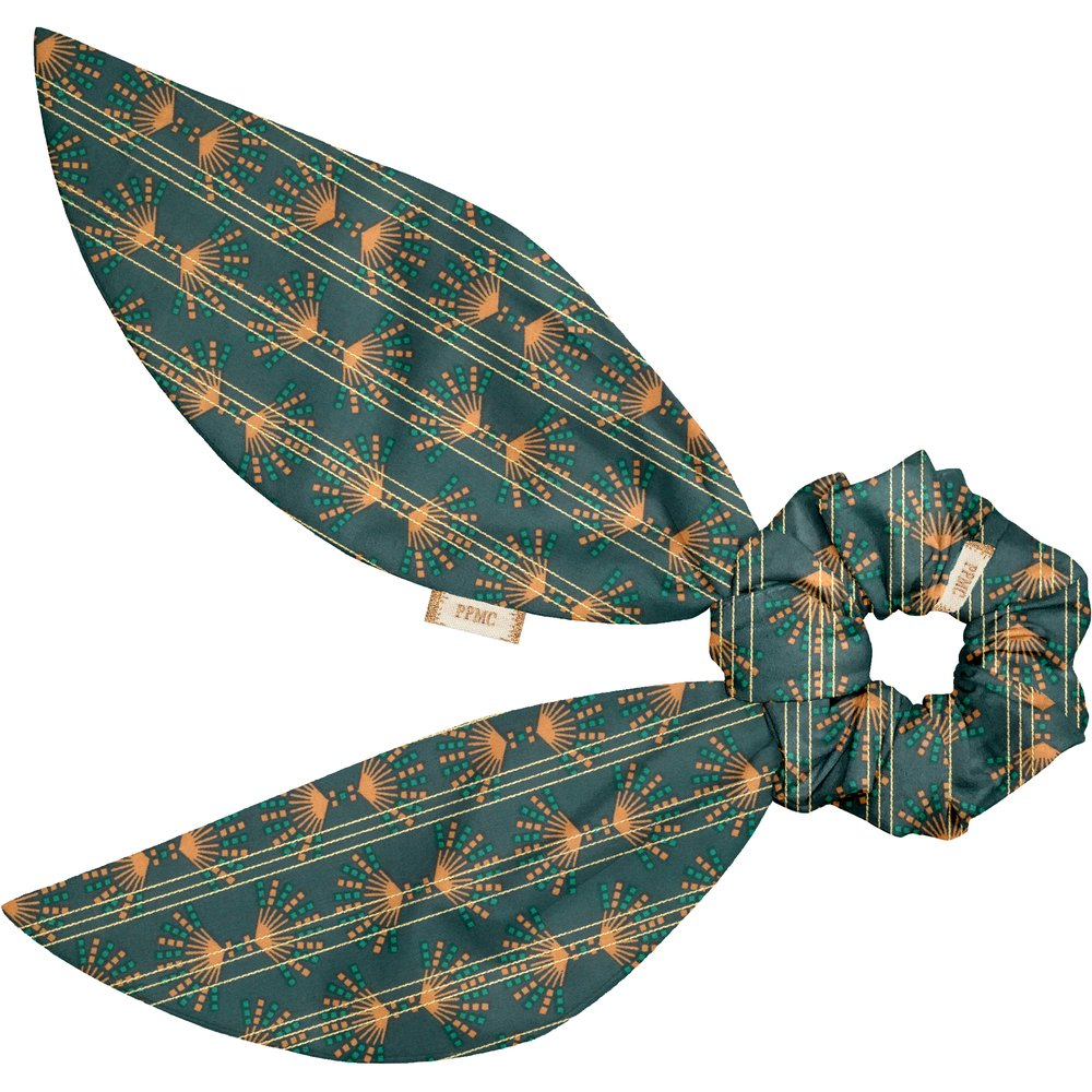 Short tail scrunchie eventail or vert