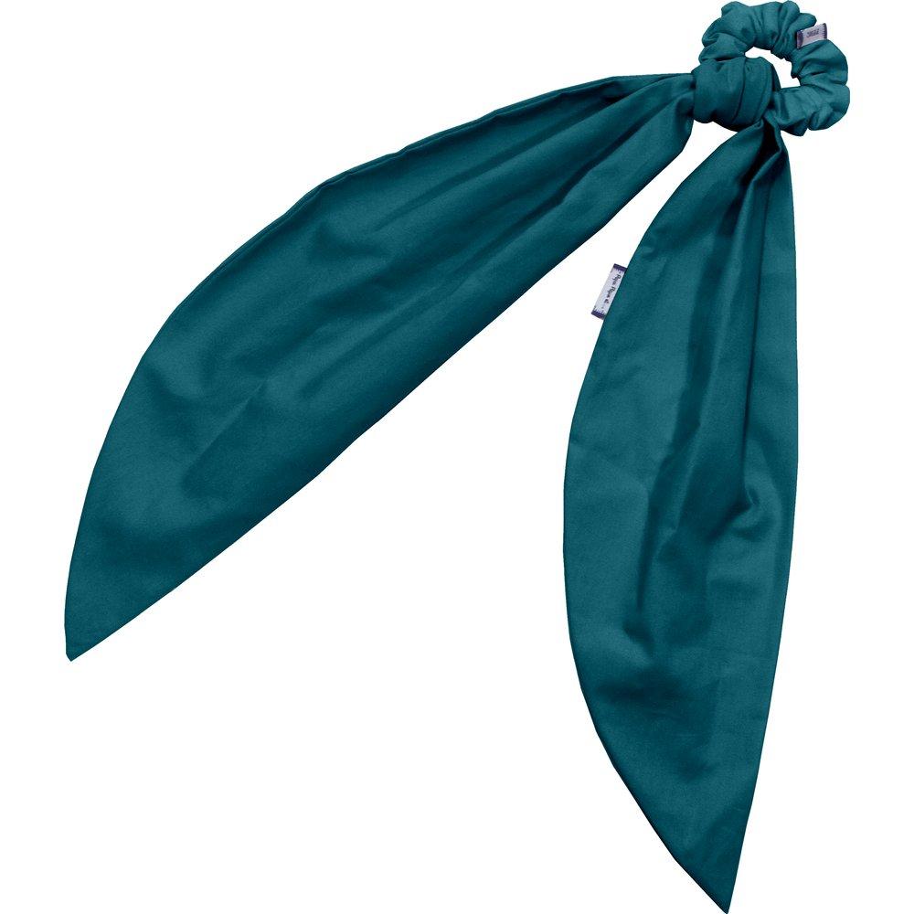 Long tail scrunchie bleu vert