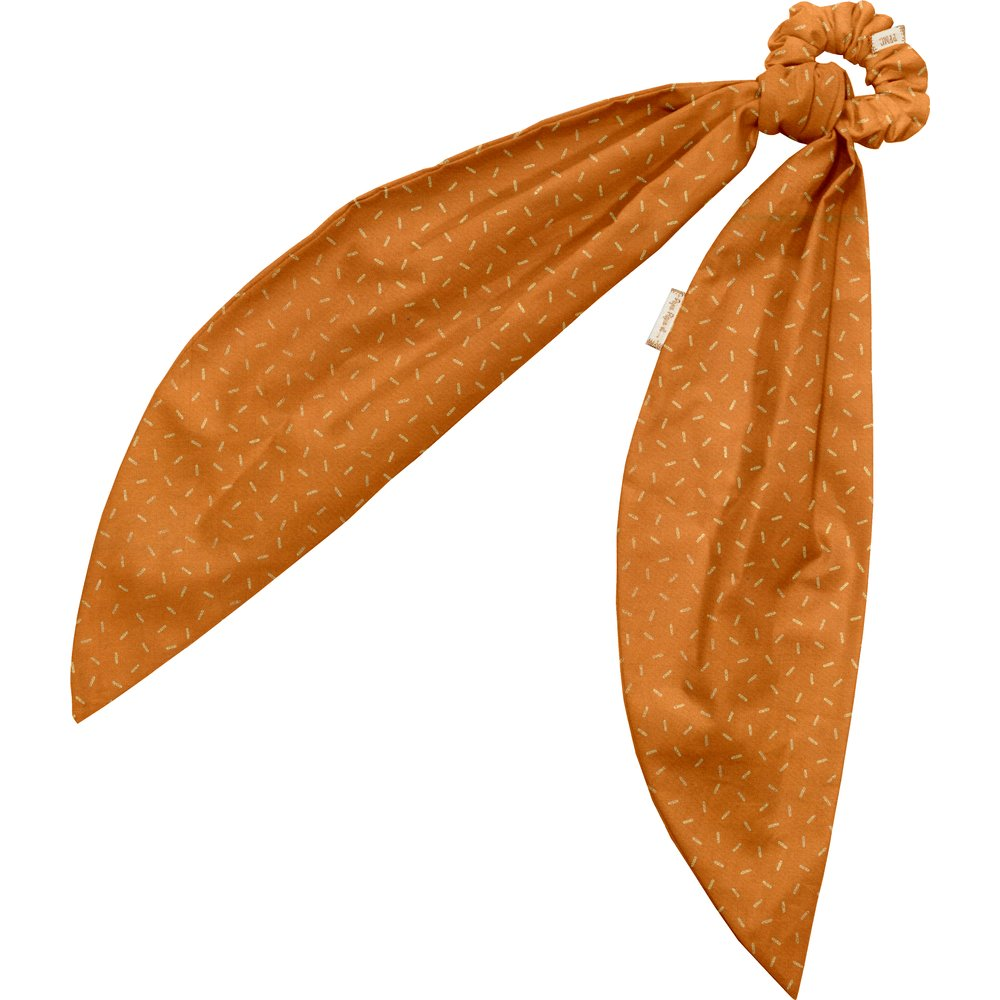 Long tail scrunchie caramel golden straw