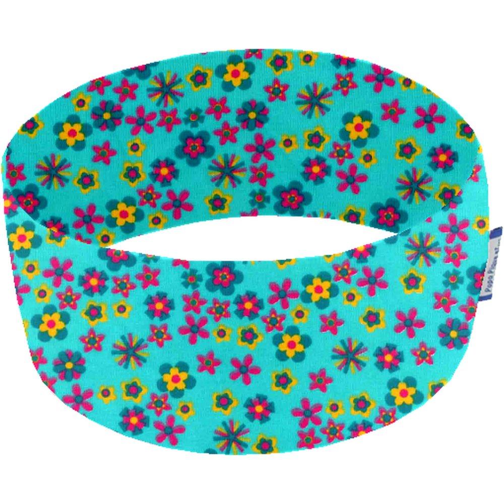 Bandeaux jersey fleur turquoise h5
