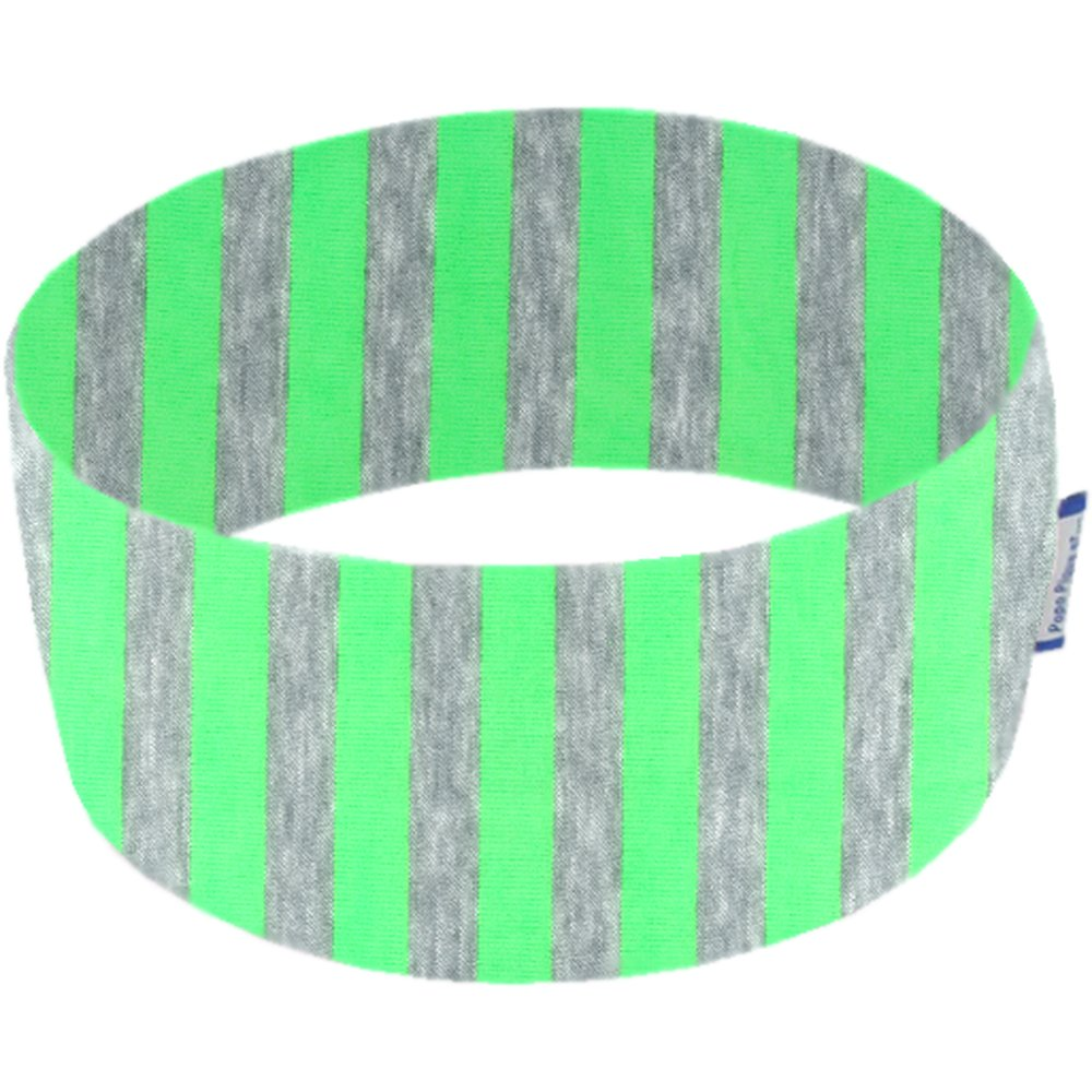 Bandeaux jersey rayé fluo vert
