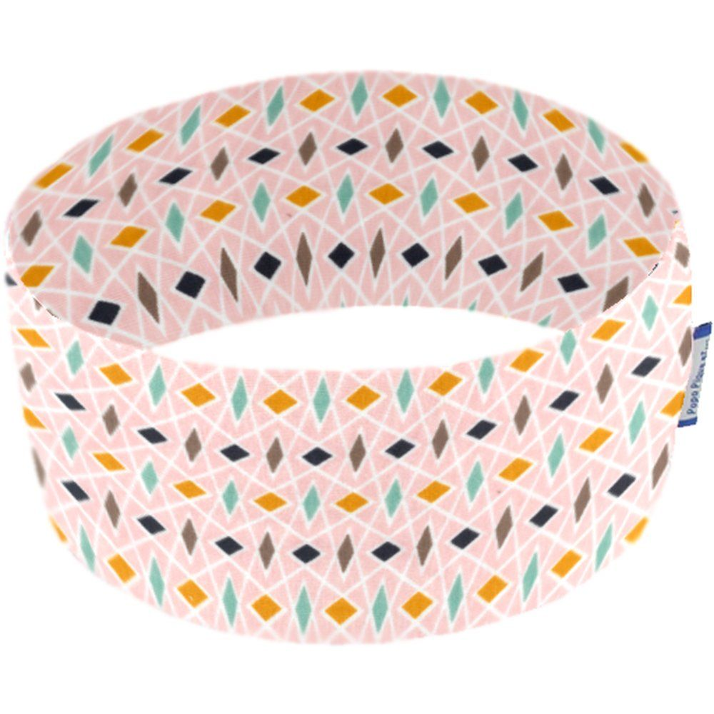 Stretch jersey headband  eclats roses d4