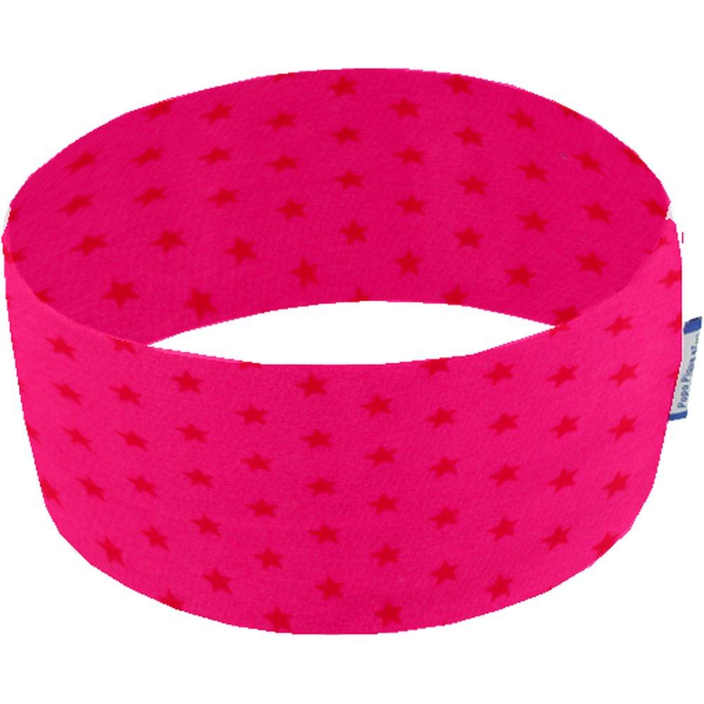 Bandeaux jersey fuchsia étoile  rouge c4