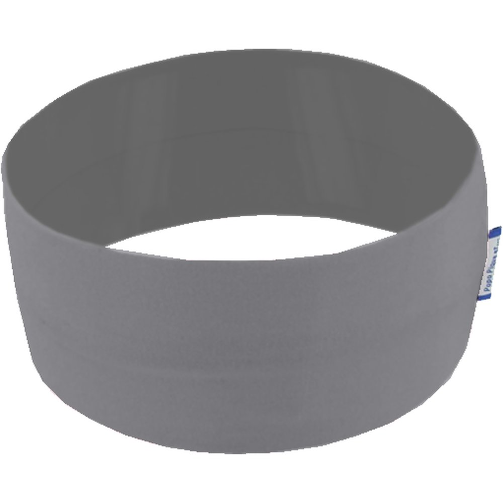 Stretch jersey headband  dark grey a9