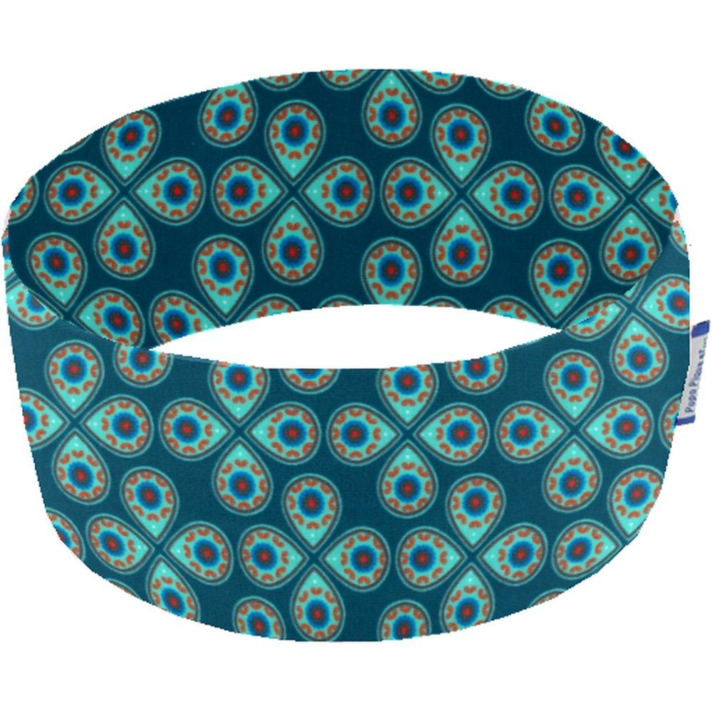 Bandeaux jersey trèfle turquoise