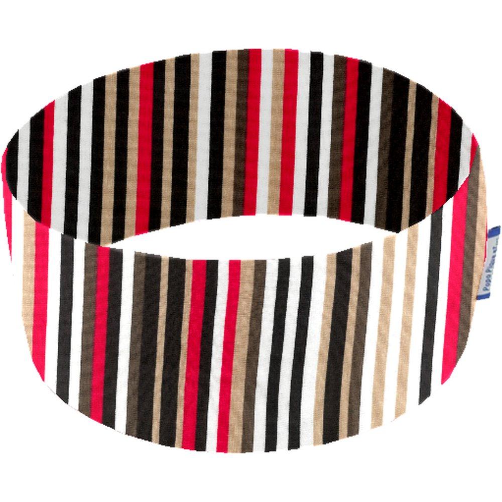 Turbantes elasticos rayé noir blanc brique d1