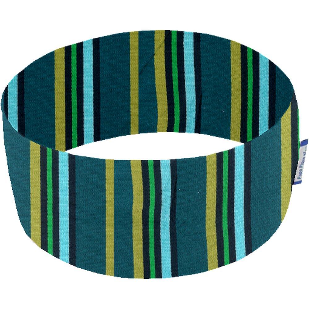 Turbantes elasticos rayé bleu canard e2