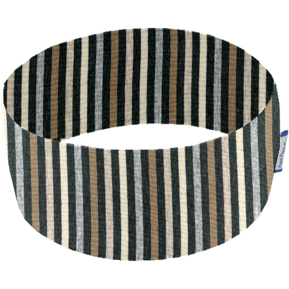 Stretch jersey headband  rayé noir gris beige f0