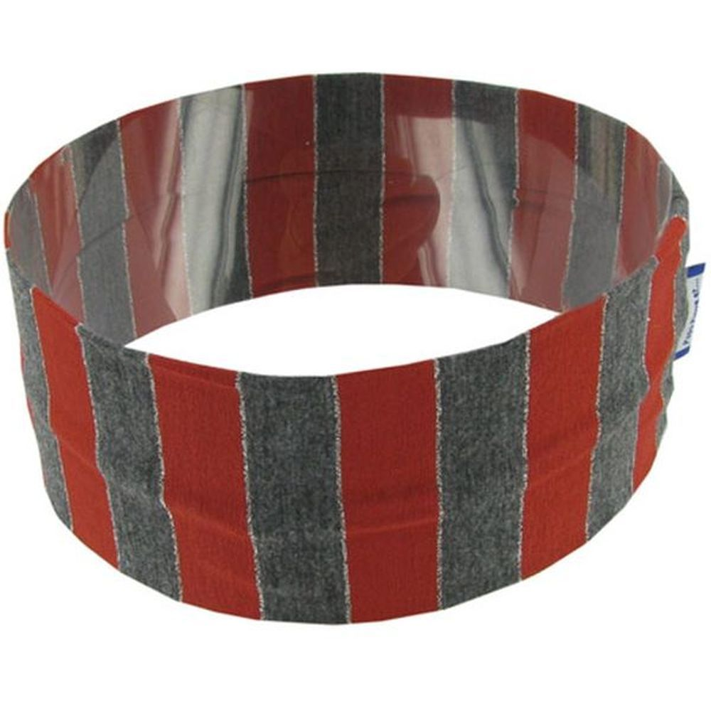 Stretch jersey headband  rayé brique gris g4