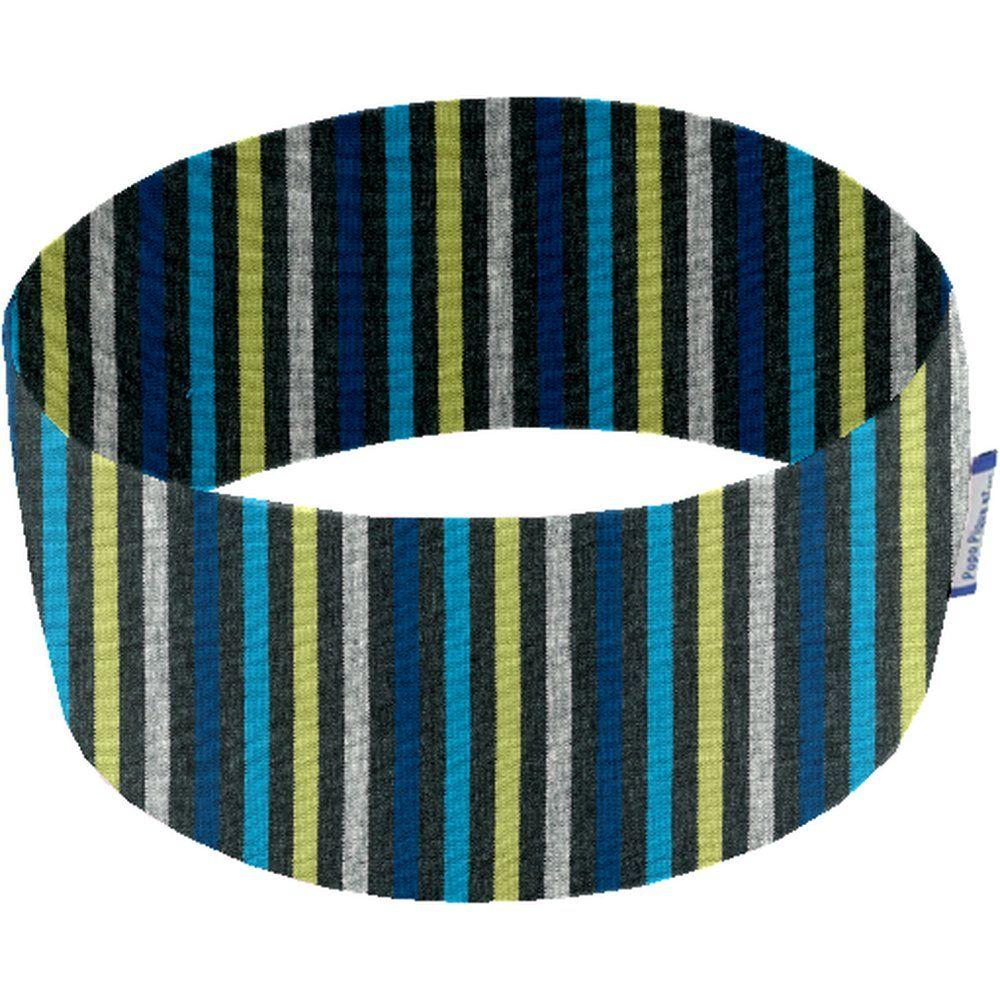 Stretch jersey headband  rayé noir anis bleu j3