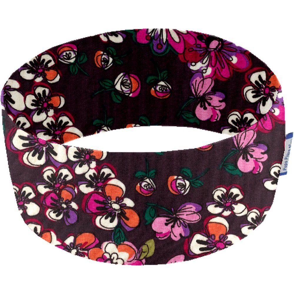 Bandeaux jersey fleur prune j5