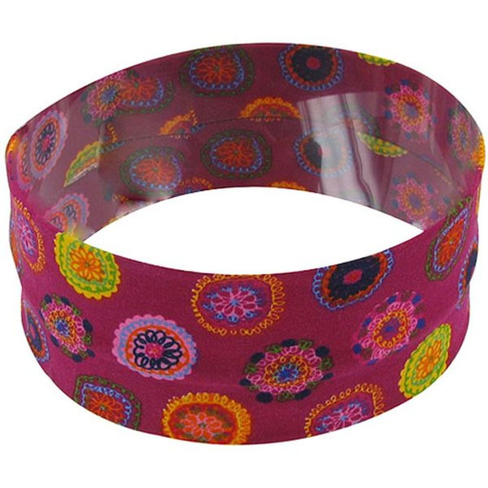 Stretch jersey headband  rosace fuchsia