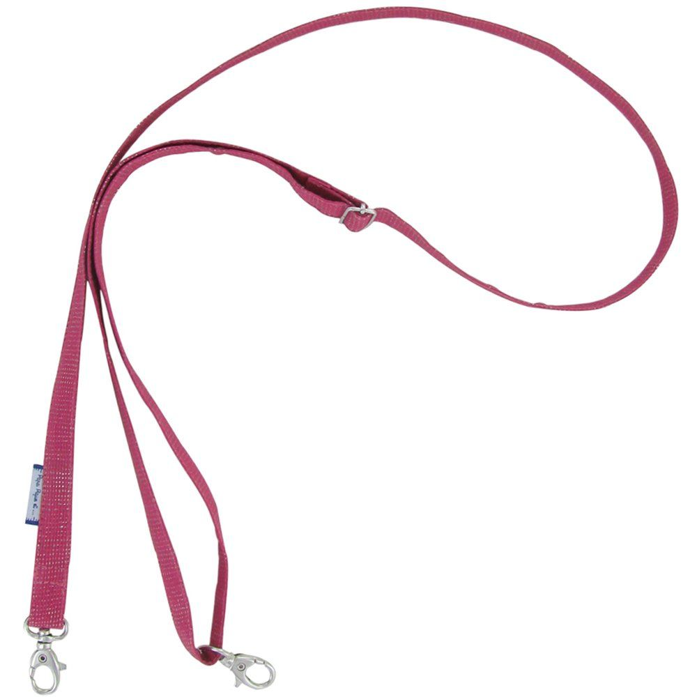 Length removable strip  silver fuchsia