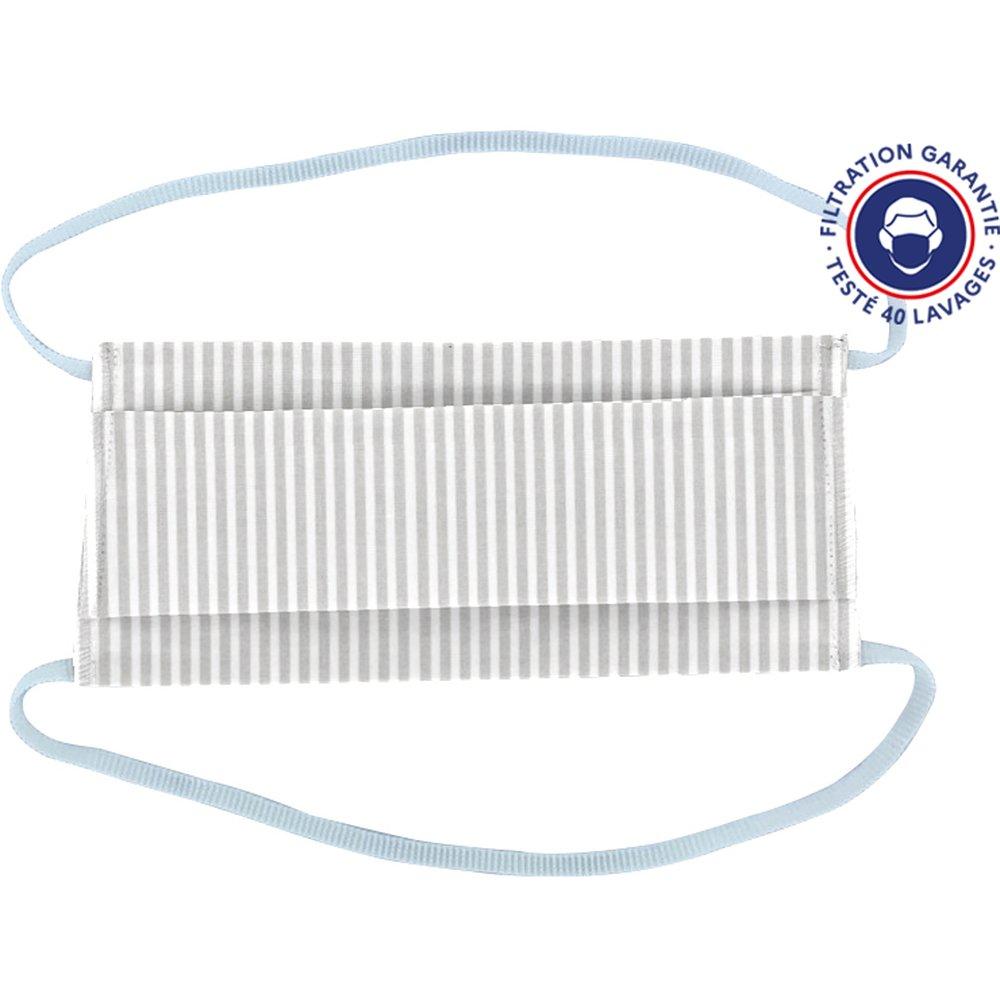 Child Mask ligne verticale blanc gris