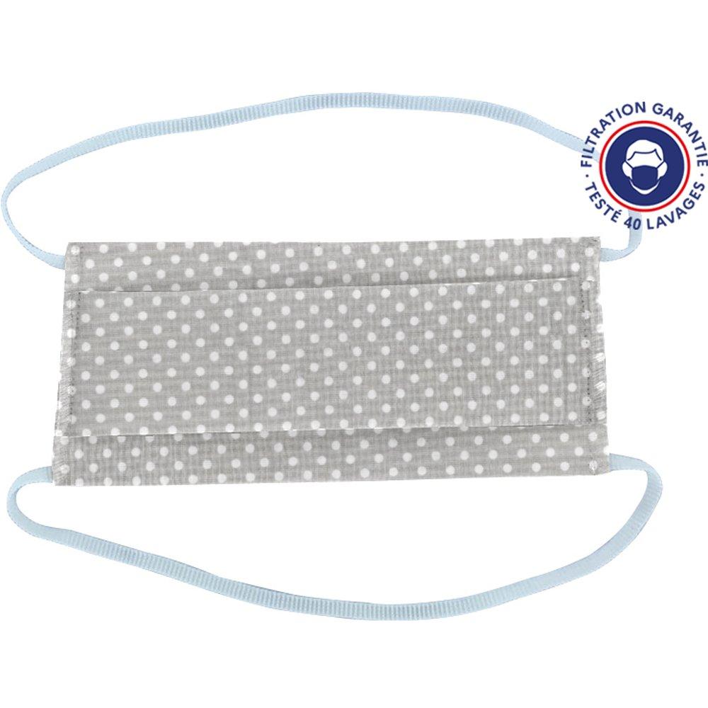 Child Mask pastille blanc gris ex996