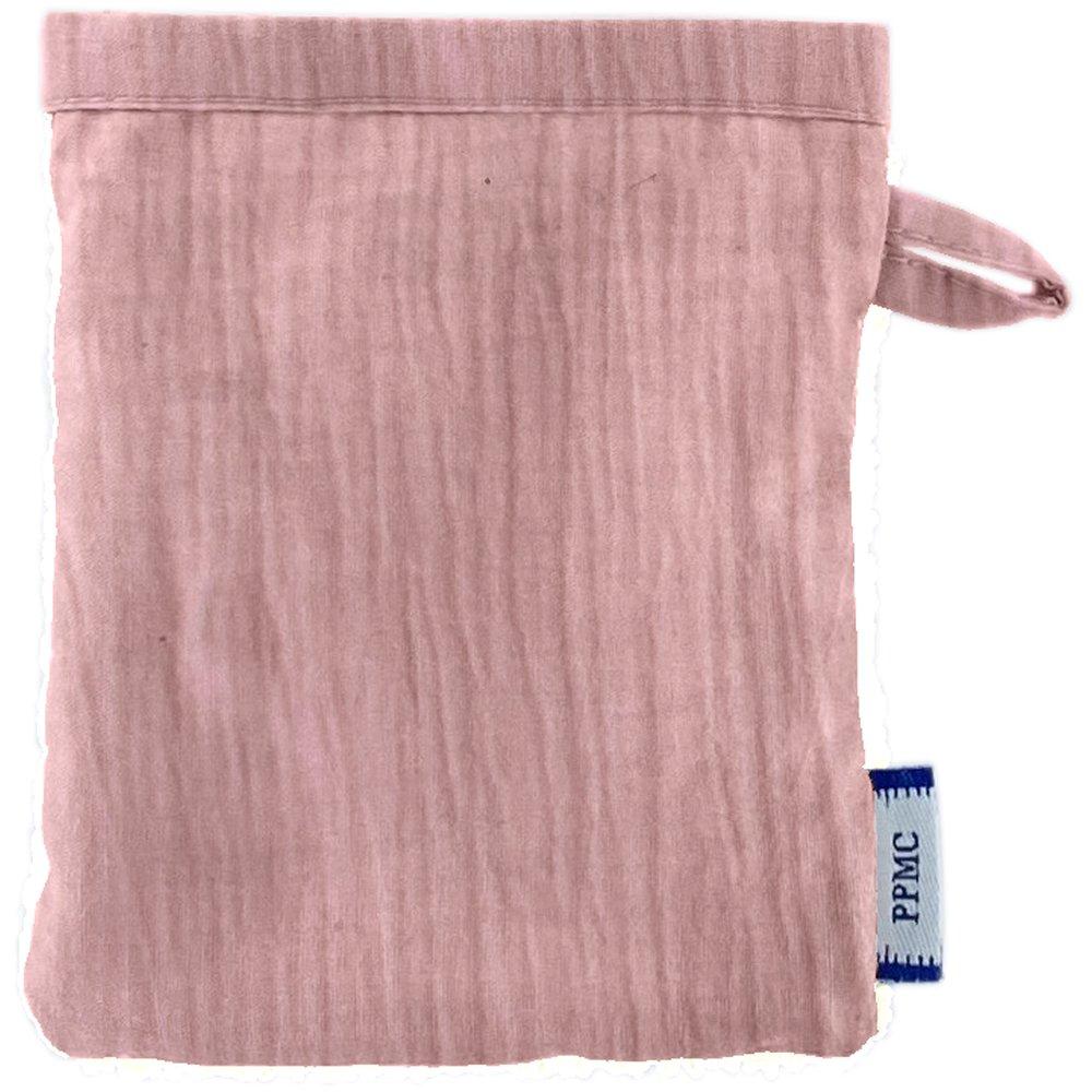 Mini-Gant Démaquillant gaze rose pale
