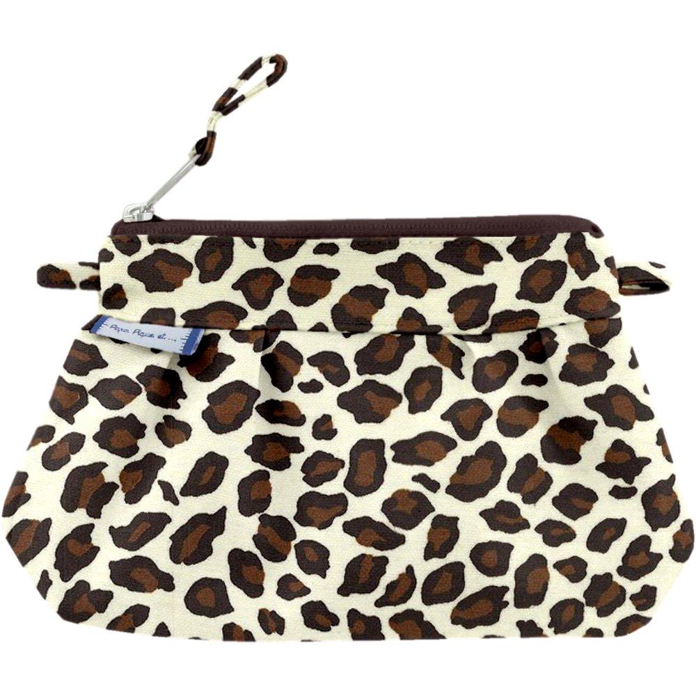 Mini Pleated clutch bag leopard print