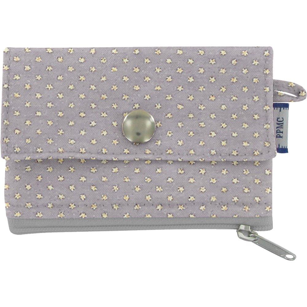 Mini pochette porte-monnaie etoile or gris