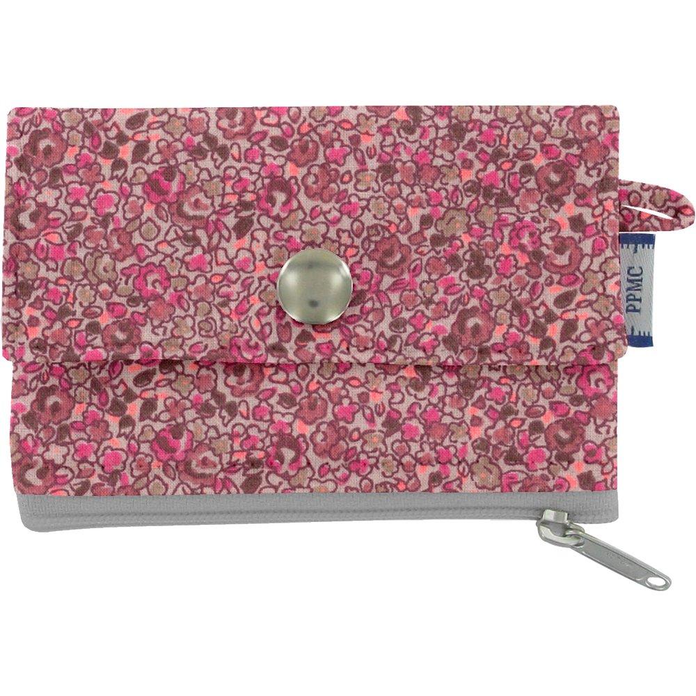 Mini pochette porte-monnaie lichen prune rose