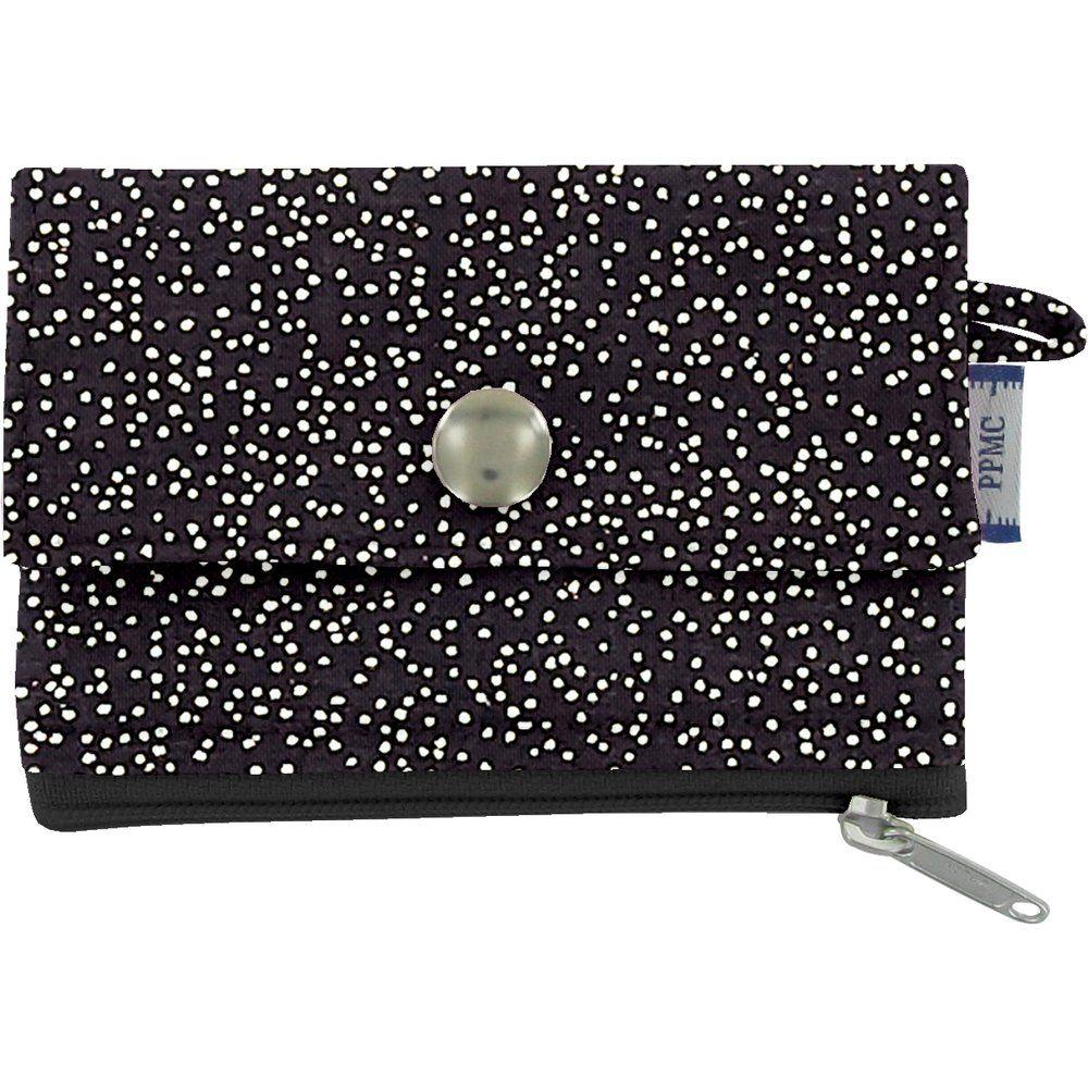 Mini pochette porte-monnaie noir pailleté