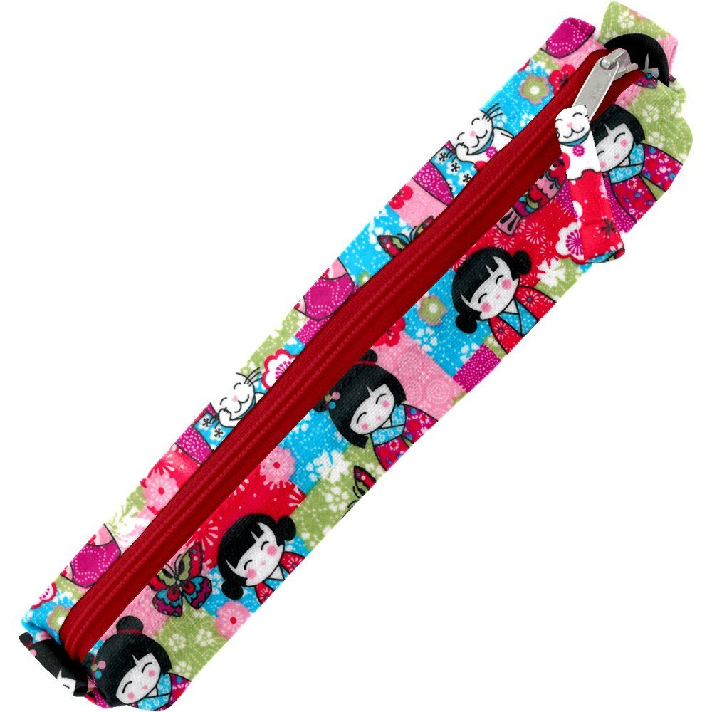 Mini pencil case kokeshis