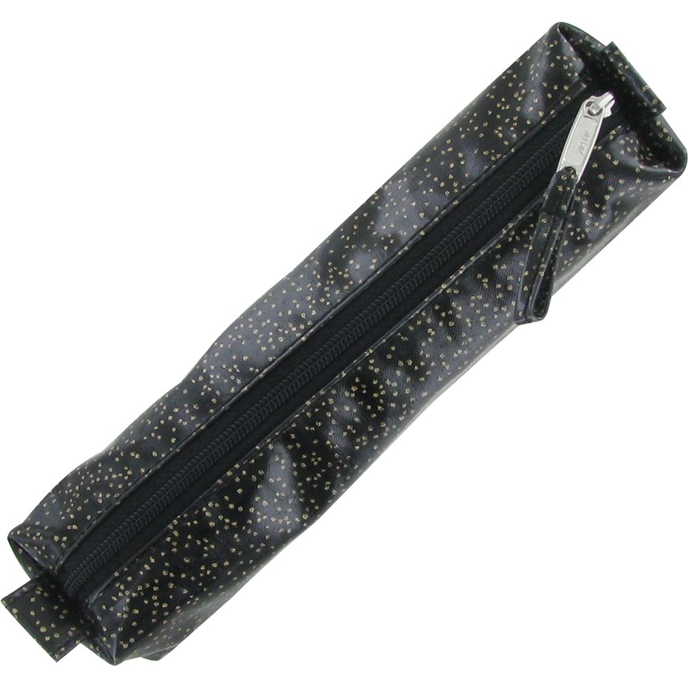 Mini pencil case glitter black