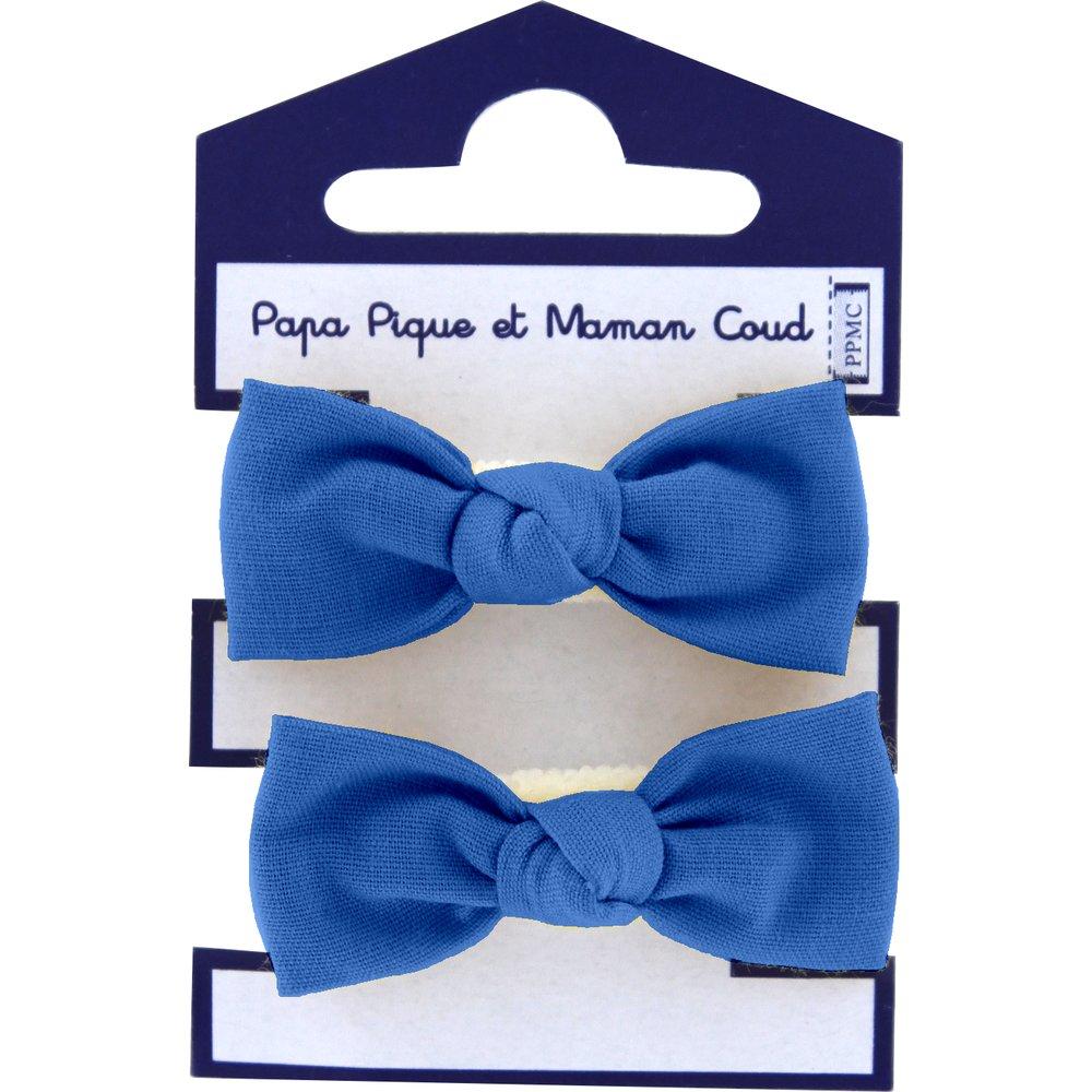 Mousse petit noeud bleu navy