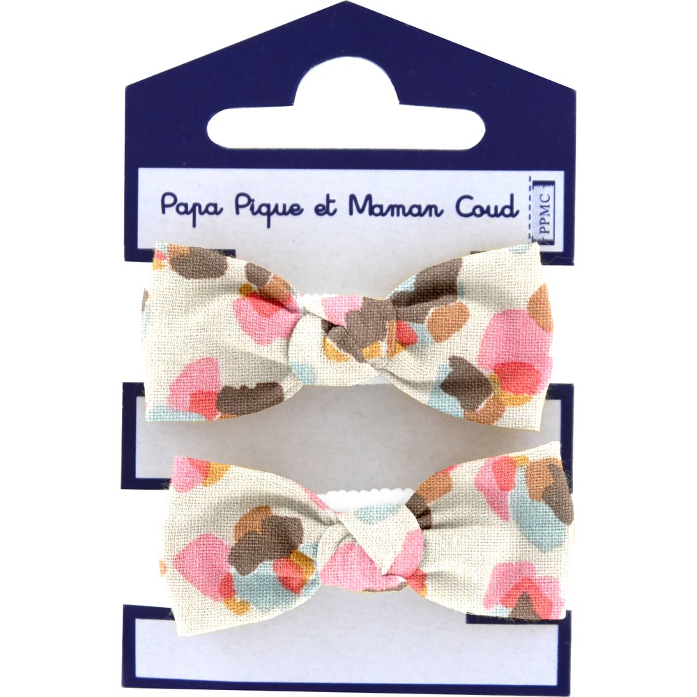Mousse petit noeud confetti aqua