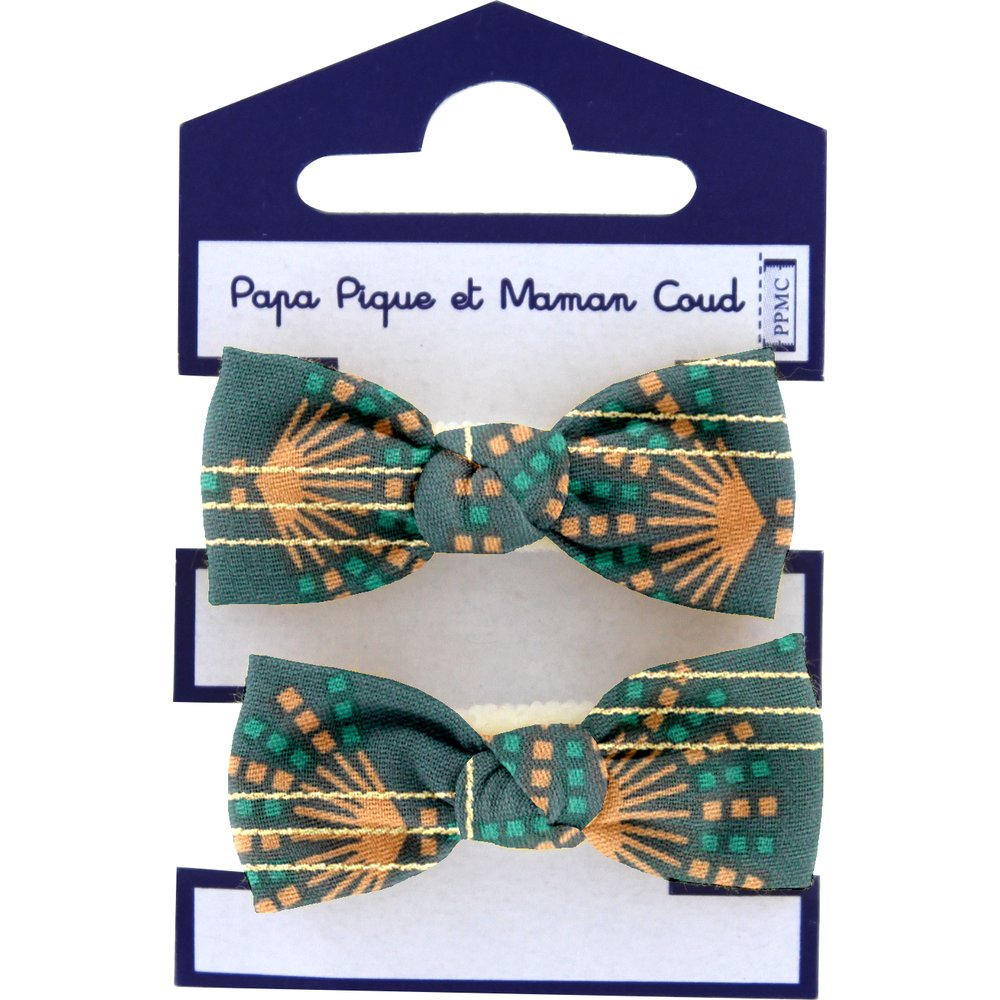 Small elastic bows eventail or vert